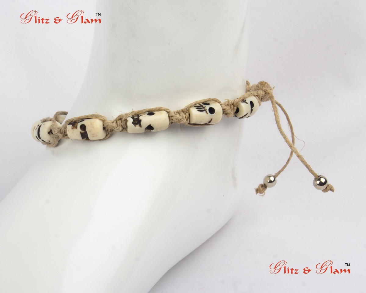 online shop single pin anklets anklet pendant shein ball offers silver